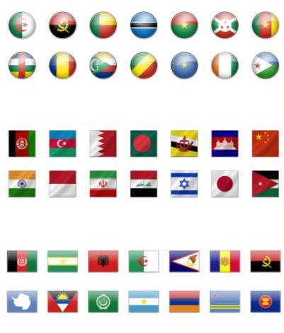 значки флаги